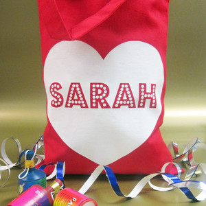 Personalised Heart Party Bag From Something Personal