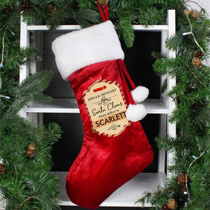Personalised Special Delivery Luxury Stocking From Something Personal