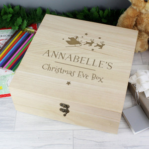 Personalised Large Wooden Christmas Eve Box From Something Personal