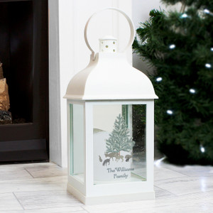 Personalised A Winter's Night White Lantern From Something Personal