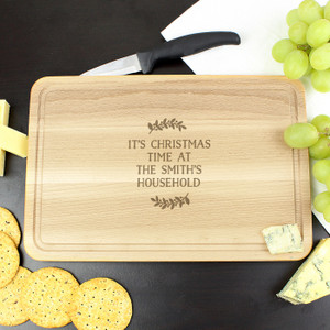 Personalised Wreath Chopping Board From Something Personal