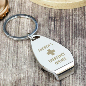 Personalised Emergency Bottle Opener Keyring From Something Personal