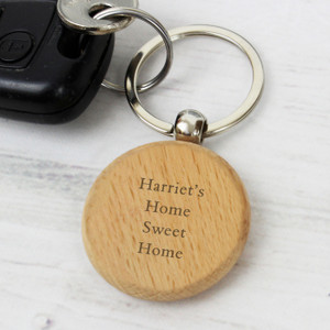 Personalised Wooden Keyring From Something Personal