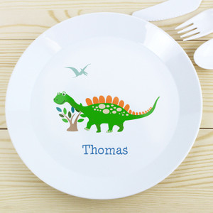 Personalised Dinosaur Plastic Plate From Something Personal