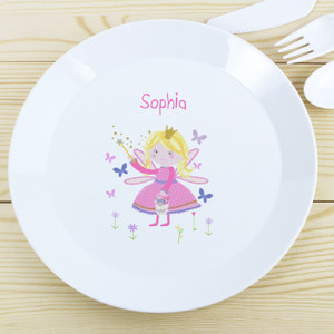 Personalised Garden Fairy Plastic Plate From Something Personal