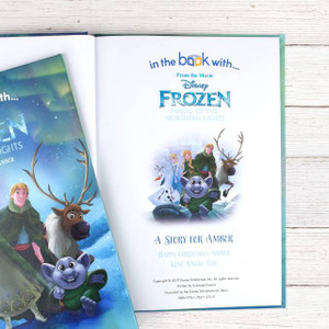 Personalised Disney Frozen Northern Lights Story Book From Something Personal