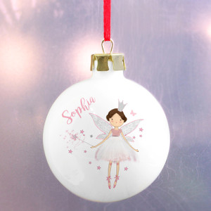 Personalised Fairy Princess Bauble From Something Personal