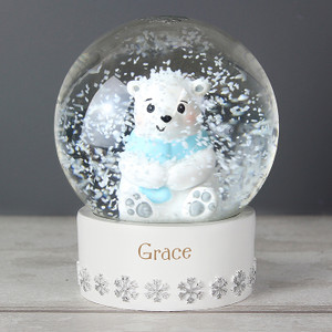 Personalised Polar Bear Any Name Snow Globe From Something Personal