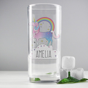 Personalised Unicorn Hi Ball Glass From Something Personal