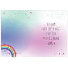 Personalised Unicorn Card From Something Personal