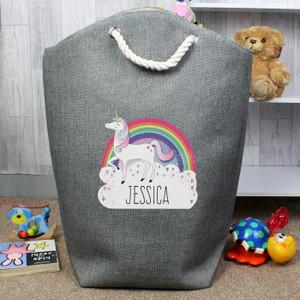 Personalised Unicorn Storage Bag From Something Personal