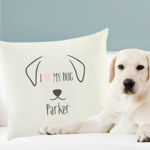 Personalised Dog Features Cushion Cover From Something Personal
