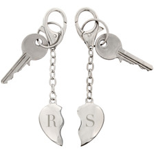Personalised Initials Two Hearts Keyring From Something Personal
