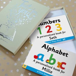 Personalised First Steps Dual Set Board Book For Toddlers From Something Personal