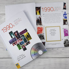 Personalised Music Decade 1990s Book From Something Personal