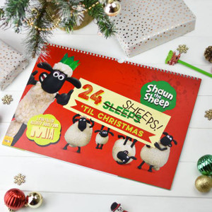 Personalised Shaun The Sheep 24 Sheeps Activity Advent Calendar From Something Personal