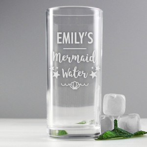 Personalised Mermaid Water Hi Ball Glass From Something Personal