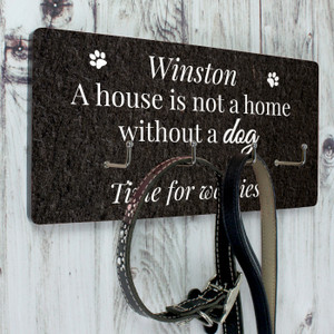 Personalised Dog Lead Hooks From Something Personal