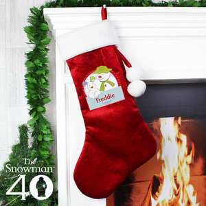 Personalised The Snowman & The Snowdog Luxury Stocking From Something Personal