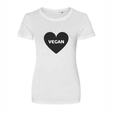 Vegan Heart T Shirt