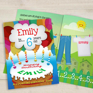 A Counting Birthday Personalised Children's Book from Something Personal