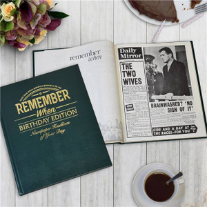 Personalised Birthday Newspaper Book From Something Personal