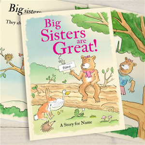 Big Sisters Are Great Personalised Story book from Something Personal