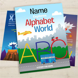 Your Child in Alphabet World Personalised Story book from Something Personal