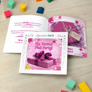 The Perfect Pink Party Personalised Children's Story Book From Something Personal