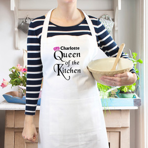 Personalised Queen Of The Kitchen Apron From Something Personal