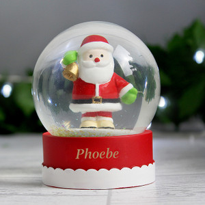 Personalised Santa Snow Globe From Something Personal