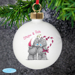 Personalised Me To You Couples Christmas Bauble From Something Personal