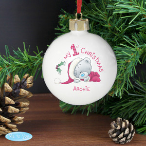 Personalised Me To You My 1st Christmas Bauble From Something Personal