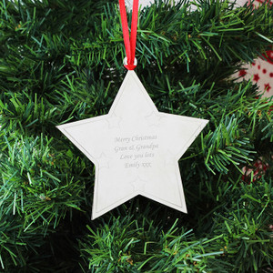Personalised Star Tree Decoration From Something Personal