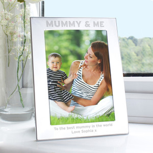 Personalised Silver 5x7 Mummy & Me Frame From Something Personal