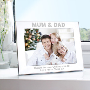 Personalised Silver 5x7 Mum & Dad Frame From Something Personal