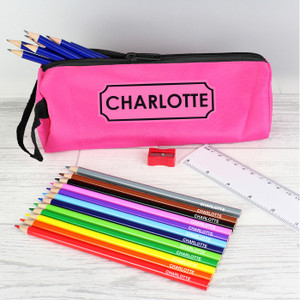 Pink Pencil Case & Personalised Content From Something Personal
