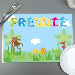 Personalised Animal Alphabet Placemat From Something Personal