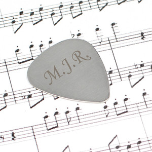 Personalised Silver Plectrum From Something Personal