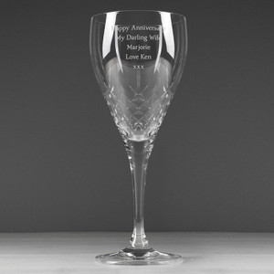 Personalised Crystal Wine Goblet From Something Personal