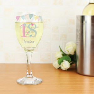 Personalised Birthday Craft Wine Glass From Something Personal