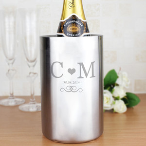 Personalised Monogram Stainless Steel Wine Cooler From Something Personal