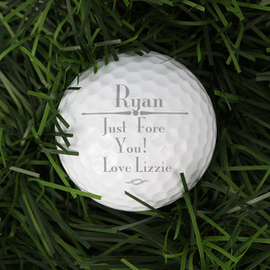Personalised Message Golf Ball From Something Personal