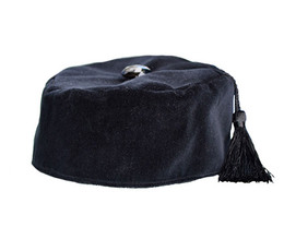 Black Velvet Smoking Cap with Tassel