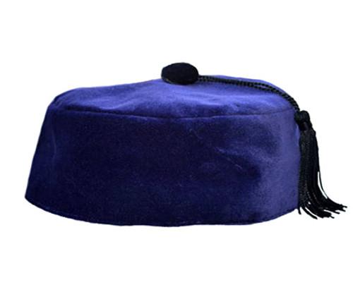 Purple Velvet Smoking Cap with Tassel
