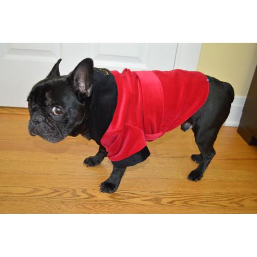 Velvet Smoking Jacket for Dogs