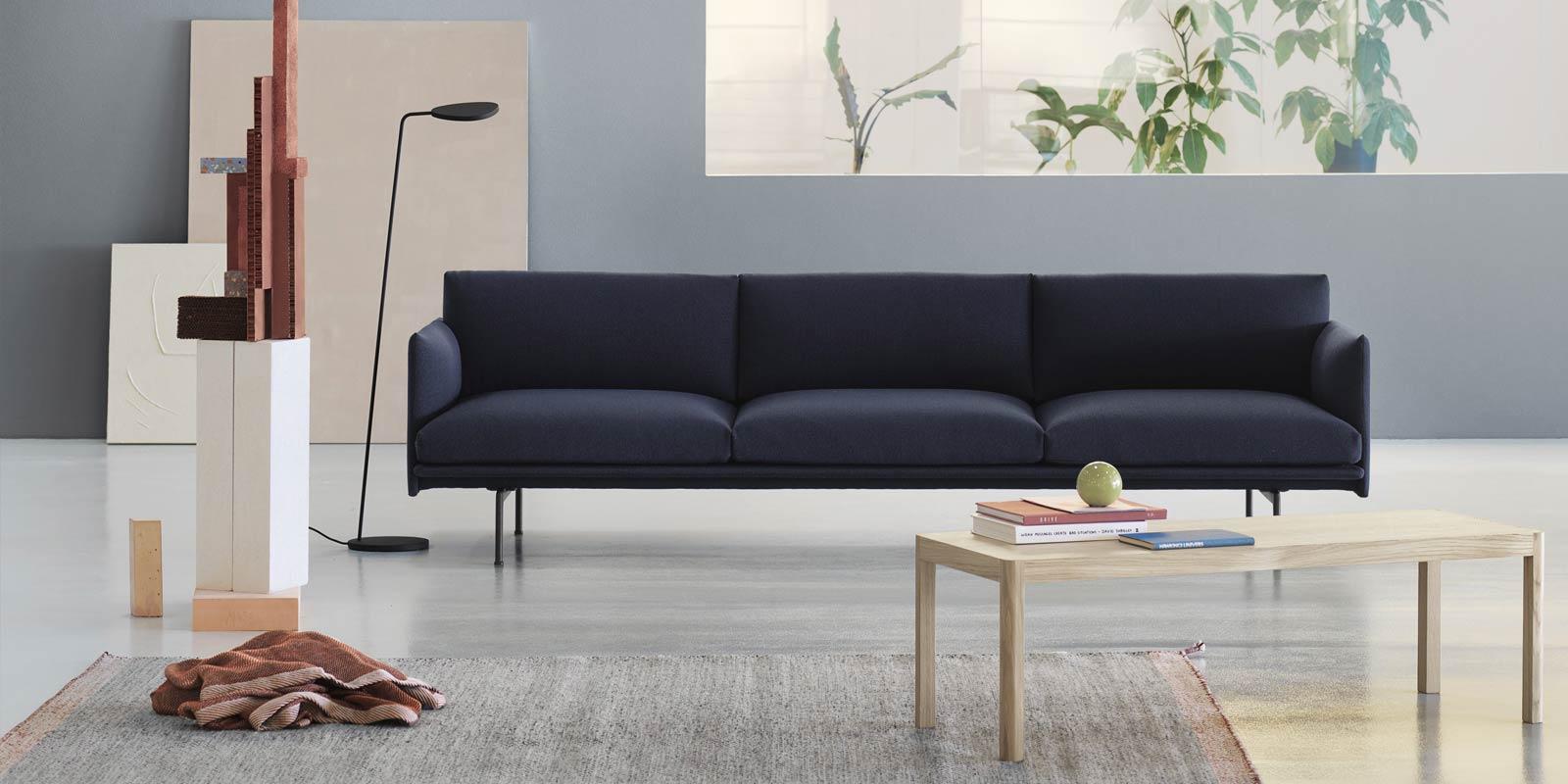 Muuto Outline Sofa & Leaf Lamp