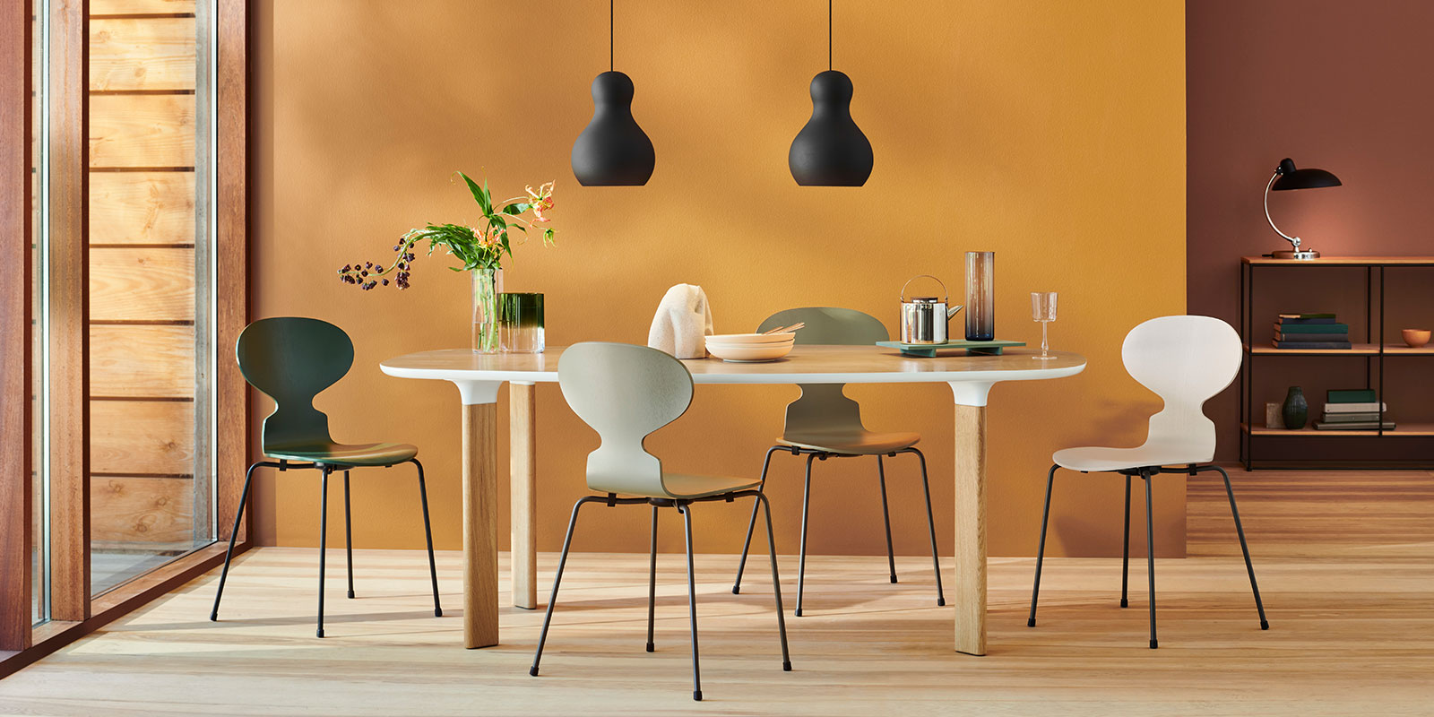Papillon Interiors Dining Furniture - Fritz Hansen Ant Chairs & Analog Table