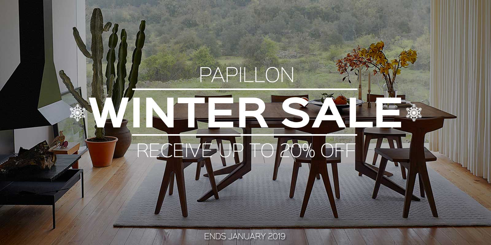 Papillon Interiors Winter Sale 2018 - Matthew Hilton