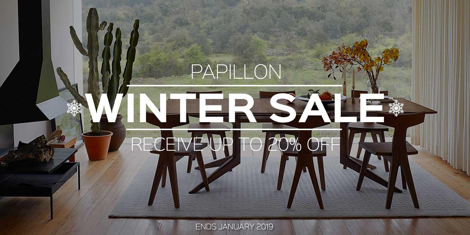 Papillon Interiors Winter Sale 2018 - Matthew Hilton